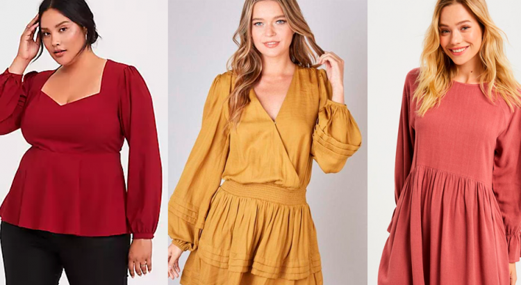 Mulheres com roupas vermelho, amarelo, laranja que são as cores do outono inverno